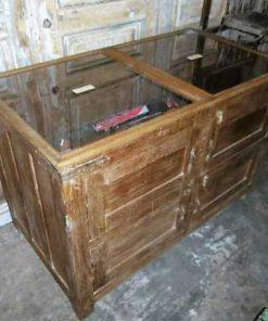 Antieke vitrine toonbank lxdxh 125x56x110 cm-1