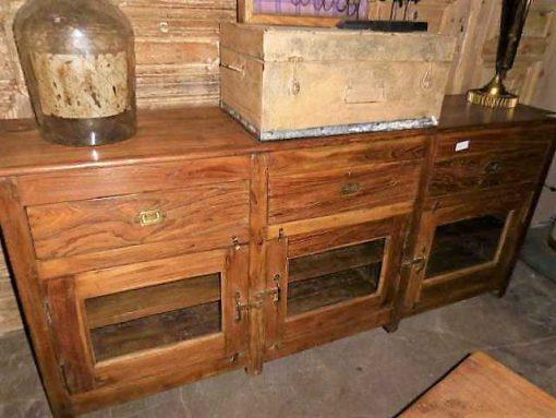Antieke teakhouten dressoir-1