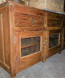 Antieke teakhouten dressoir-3