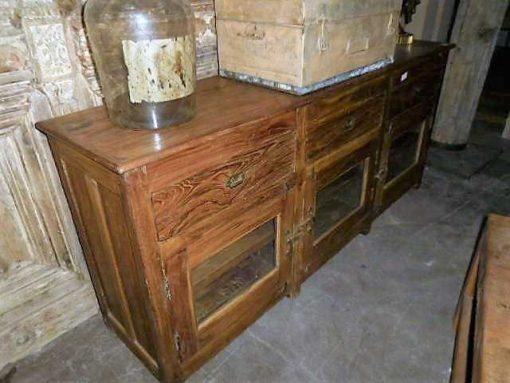 Antieke teakhouten dressoir-4
