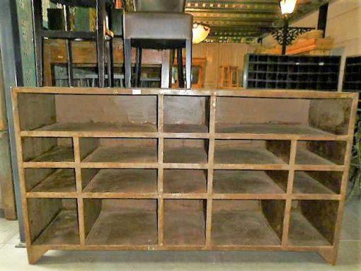 Vintage industriele metalen kast-1