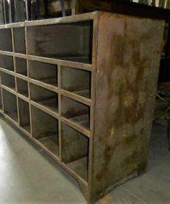 Vintage industriele metalen kast-2