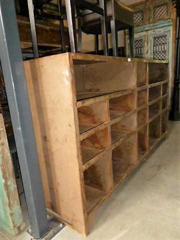 Vintage industriele metalen kast-3