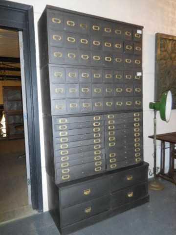 Industriele metalen archief kast-1
