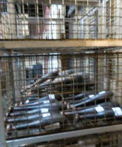 Vintage industriële kast / rek met laden van metaal-3
