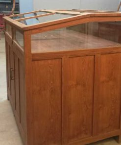 Antique teak museum showcase-5
