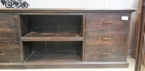 Vintage Tv-Kast Van Teakhout Lxdxh 190x44x74 Cm-3