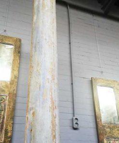 Antieke houten zuil / pilaar van ca 300 cm-4