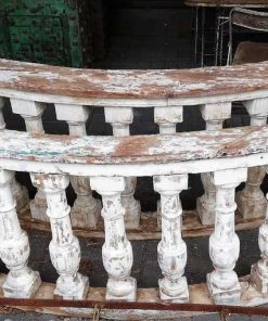 Old half round wooden balustrade-1