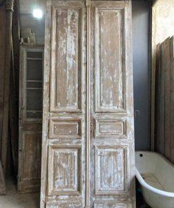 Antieke dubbel paneel deuren van 317x112 cm-1