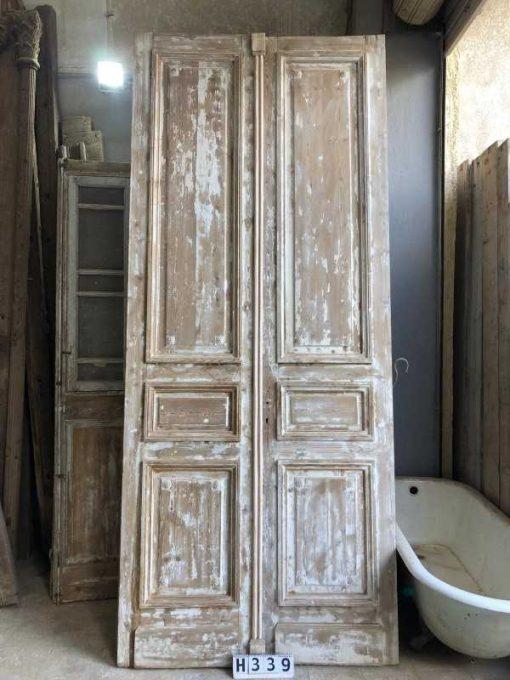 Antique double panel doors-1