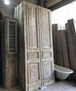 Antique double panel doors-3