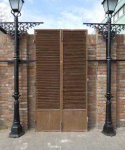 Vintage industrial metal louver doors-1