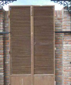 Vintage industrial metal louver doors-2