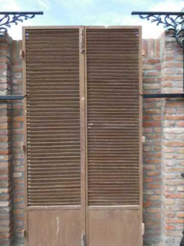 Vintage industriele metalen louvre deuren-2
