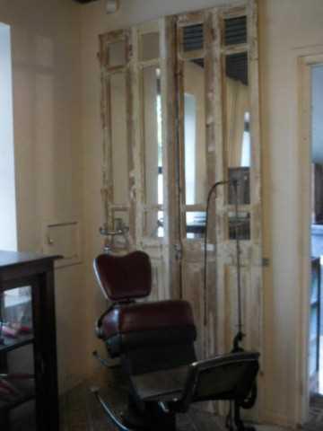 Antieke 4-slag deuren met spiegels-3