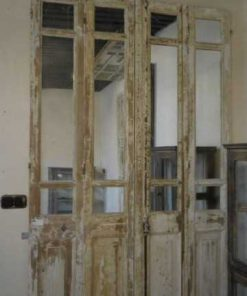 Antieke 4-slag deuren met spiegels-4
