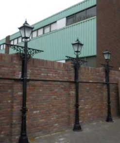 Black cast iron lantern poles-1
