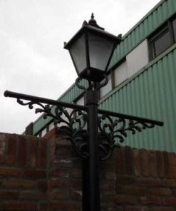 Black cast iron lantern poles-2