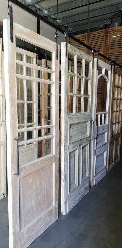 Antique Sliding Doors With Glass-1