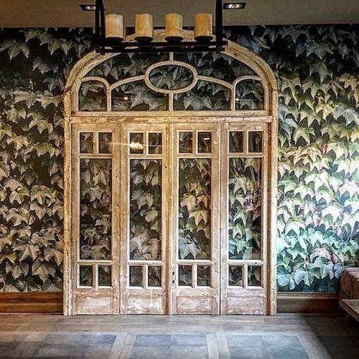 Antique orangery door / 4-panel doors in frame-1