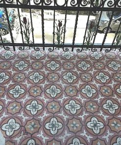 Antique motif tiles for balcony-1