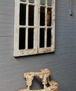Antique Gothic window with mirrors-1