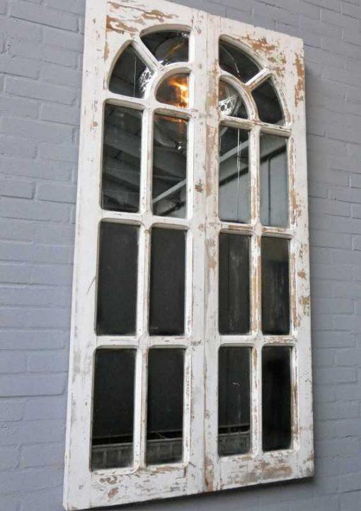 Antieke Gotisch raam met spiegels-2