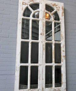 Antieke Gotisch raam met spiegels-3
