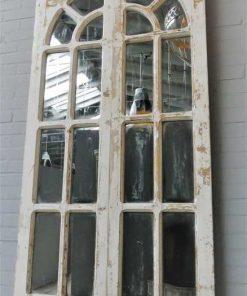 Antieke Gotisch raam met spiegels-4