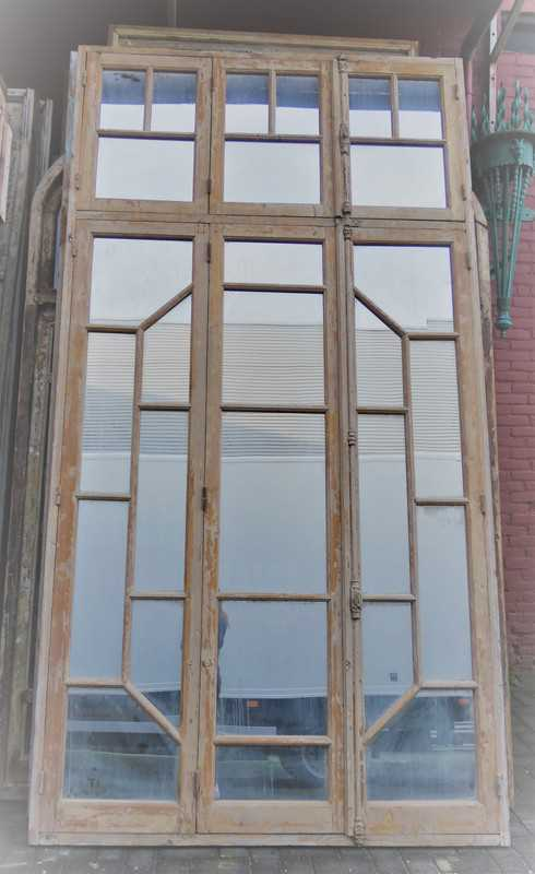 Antique window frame with mirrors-1
