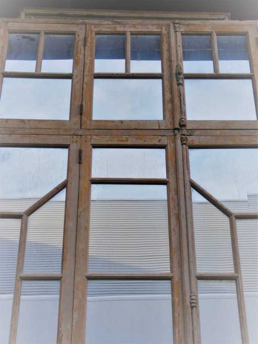 Antique window frame with mirrors-3
