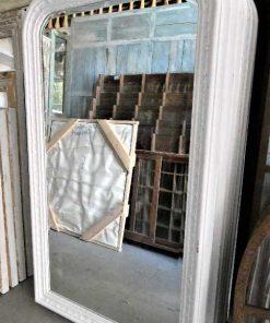 Spiegel met witte houten lijst hxb 150x90 cm-1