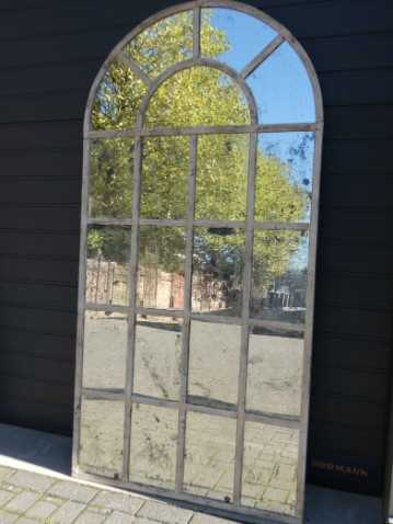 Cream-colored stable window mirrors-1