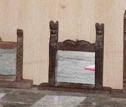 Spiegeltjes met houten lijst-1