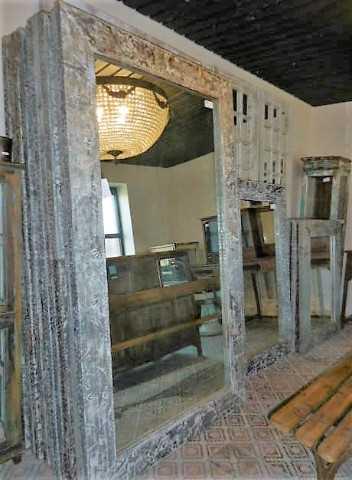 Industriele spiegels met metalen lijst-3