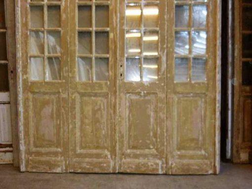 Antieke oranjerie / 4-slag deuren met spiegels-3