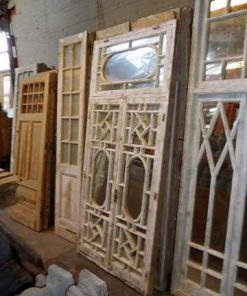 Antique white window pane with mirrors-2