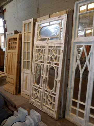 Antique white window pane with mirrors-2