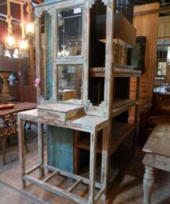 Antique chest of drawers / hall cupboard with mirror-1