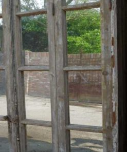 Large antique window with mirrors-4