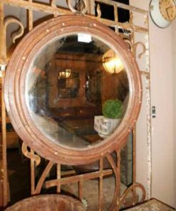 Antique round mirror-1