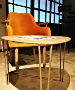 Vintage metal salon / side table-1
