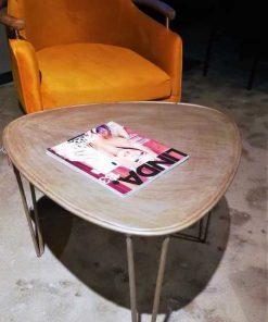Vintage metal salon / side table-2