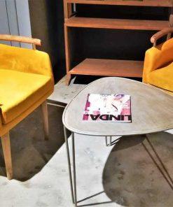 Vintage metal salon / side table-3