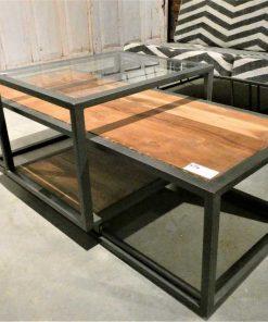Strakke salon tafel met verschuifbaar blad-1
