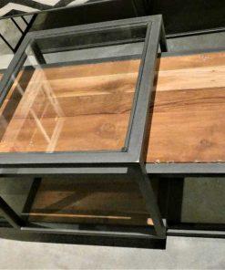 Strakke salon tafel met verschuifbaar blad-4