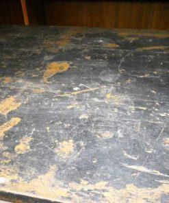 Vintage massief houten werkbank / bureau-5