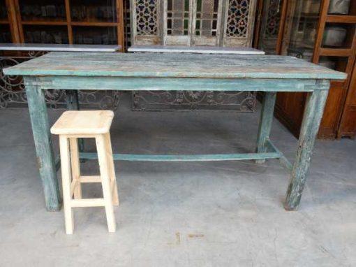 Vintage green wooden bar table-1
