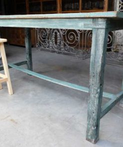 Vintage green wooden bar table-2